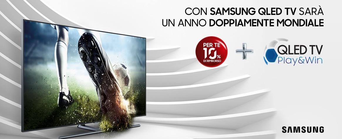 Samsung rimborsa il 10% sul costo dei nuovi QLED TV e mette in palio un Galaxy S9