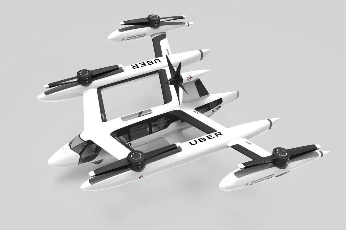 Il taxi volante di Uber può sembrare un bizzarro drone giocattolo, ma entrerà in servizio nel 2023 (foto)