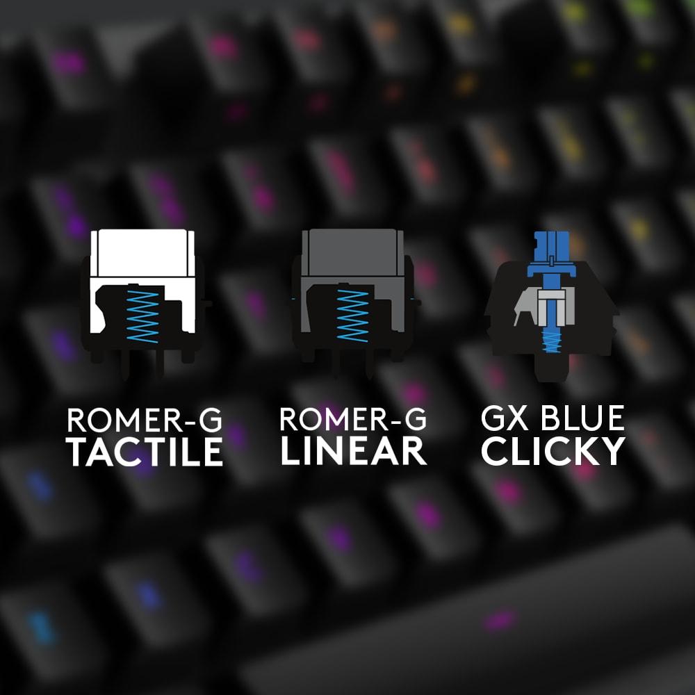 Logitech presenta il nuovo switch GX Blue e la tastiera meccanica G512 (foto)