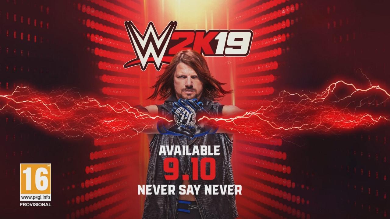 2K annuncia WWE 2K19, AJ Styles è l'atleta di copertina: ecco i contenuti delle varie versioni e la data di uscita!