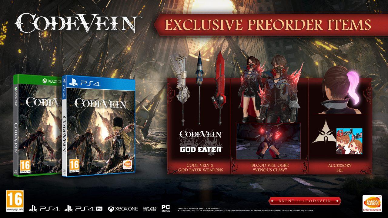 Finalmente Bandai Namco ufficializza la data di uscita di Code Vein: in Italia da 27 settembre! (foto e video)