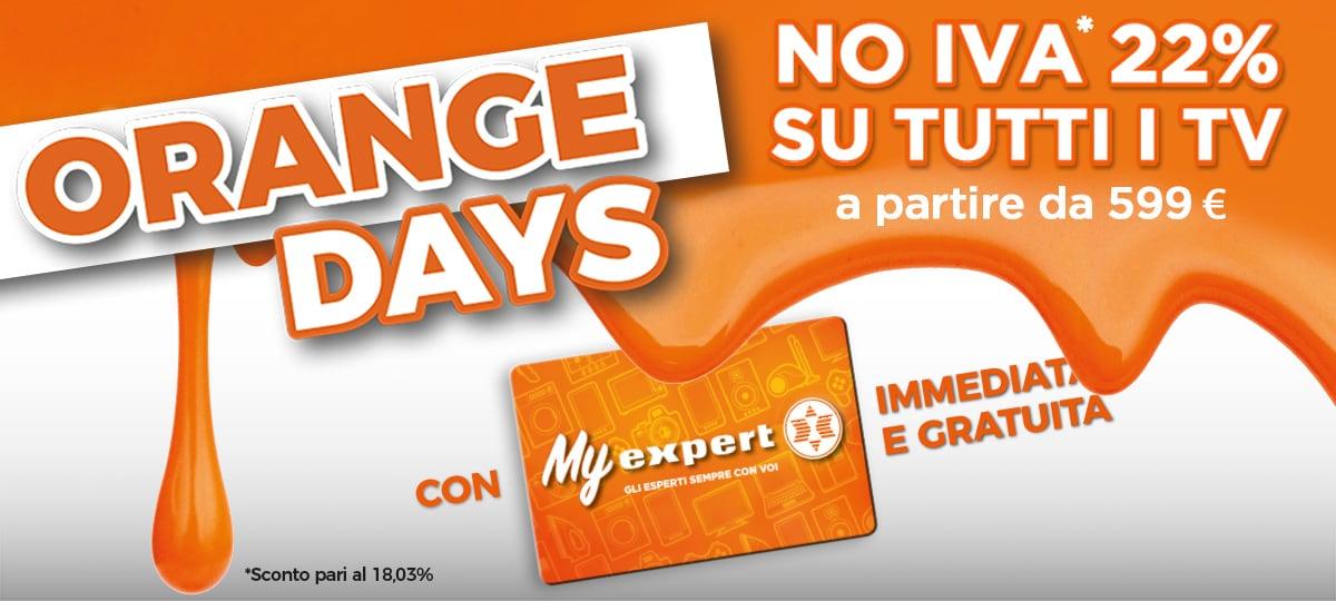 "Expert ""Orange Days"" 1-6 giugno: NO IVA sui TV da 599€ in su"