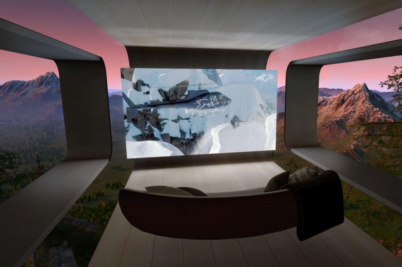 Oculus TV disponibile per Oculus Go: un salottino virtuale con schermo da 180 pollici in VR
