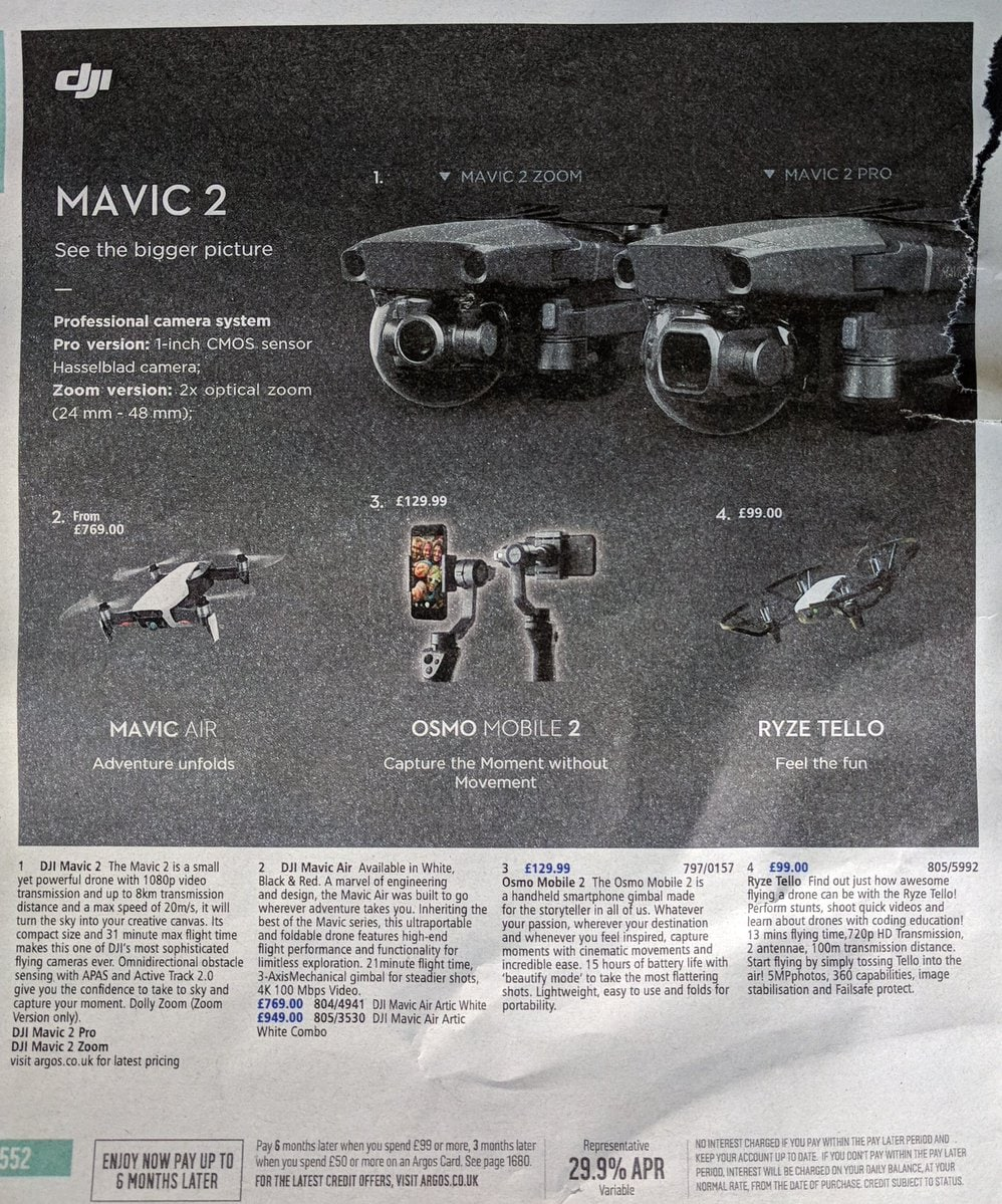 DJI Mavic 2 catalogo