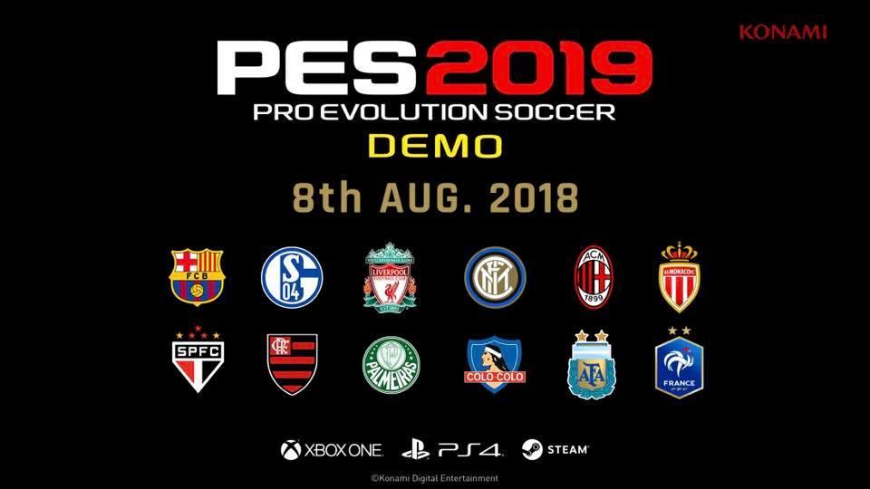 Dall'8 agosto potrete provare PES 2019 con mano: in arrivo la demo gratuita