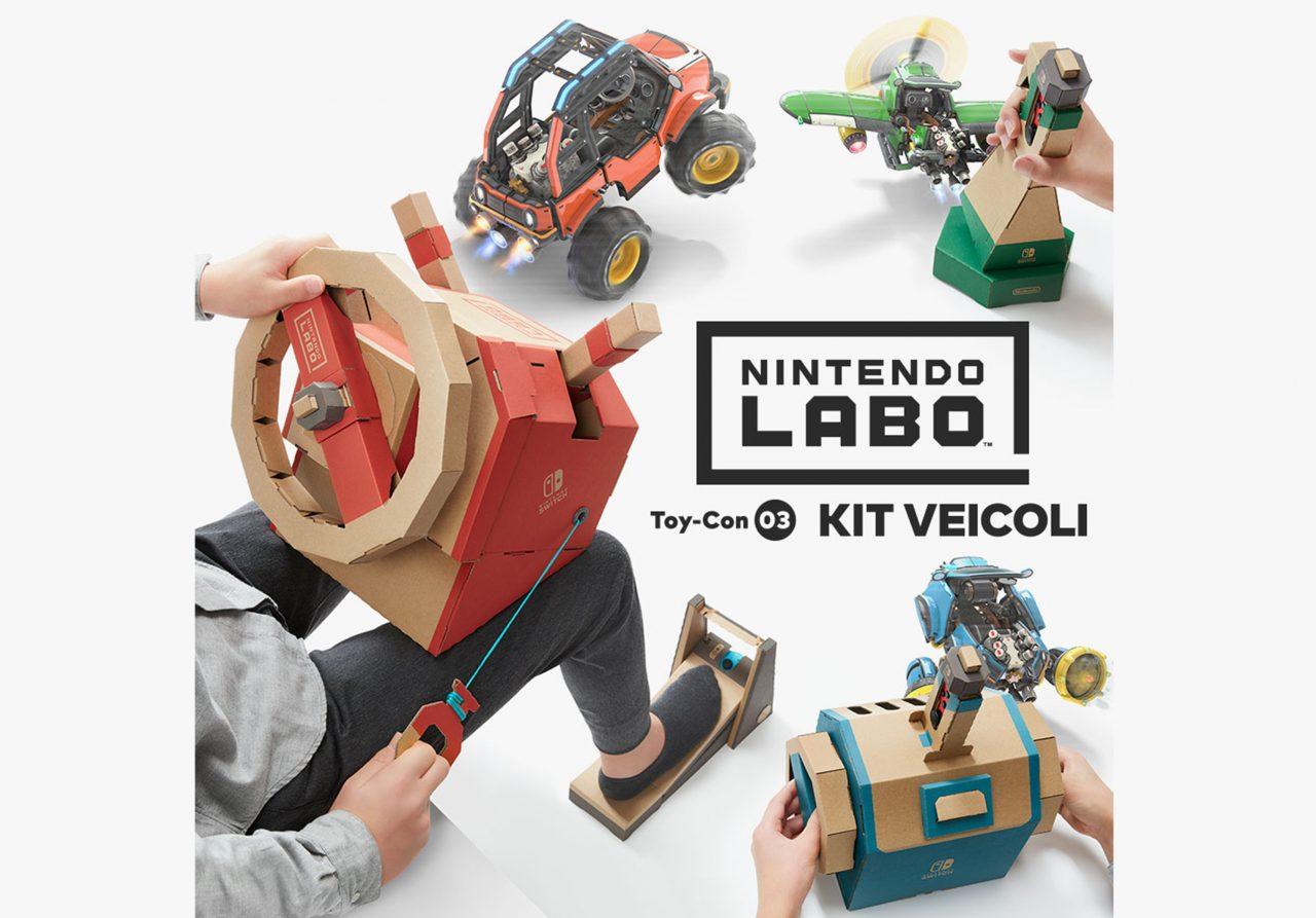 Nintendo Labo in offerta su Amazon a 39€: kit assortito e kit veicoli in sconto!