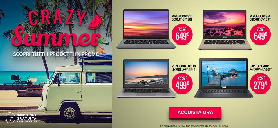 ASUS fa sconti pazzi solo per oggi: tanti notebook a prezzo speciale per tutte le tasche