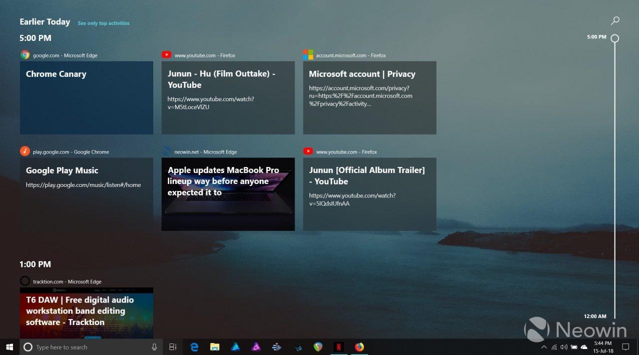 Ecco un'estensione per sfruttare la Timeline di Windows 10 su Chrome, Firefox e Vivaldi (foto) (aggiornato: rimosso da Chrome)