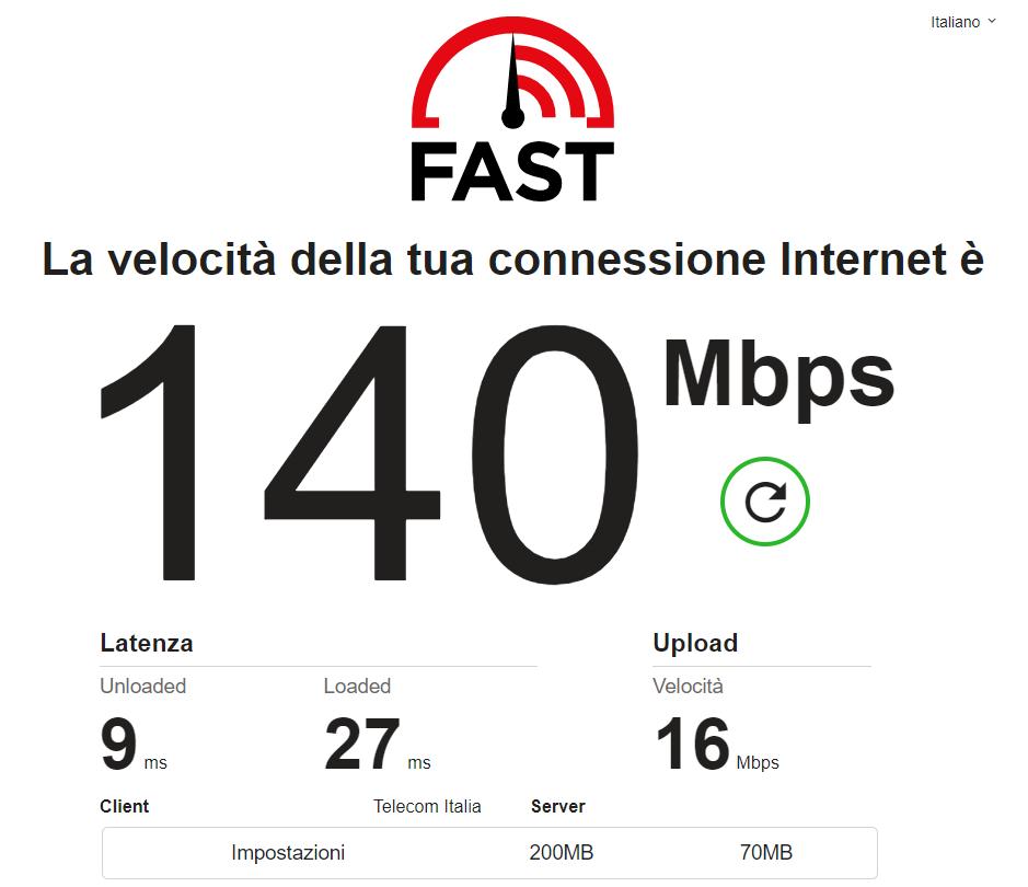 Su Fast.com finalmente arrivano la velocità di upload e altri dati (foto)