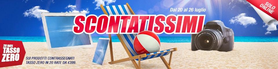 """Trony """"Scontatissimi"""" 20-26 luglio: TV e fotocamere tra le offerte estive online  (foto)"""