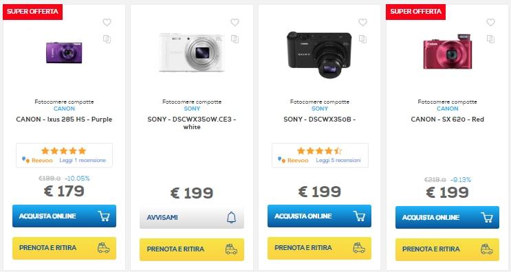 sconti online euronics 2 agosto fotocamere (1)