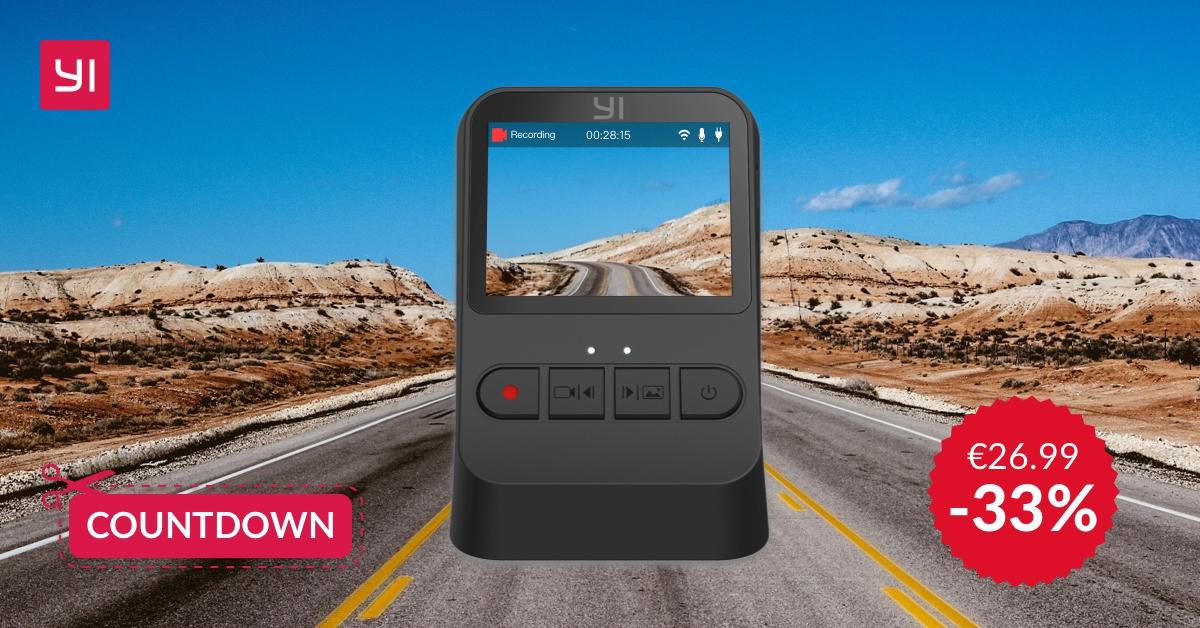 YI Dash Camera Mini torna in forte sconto ma solo fino a venerdì e non durante il Prime Day