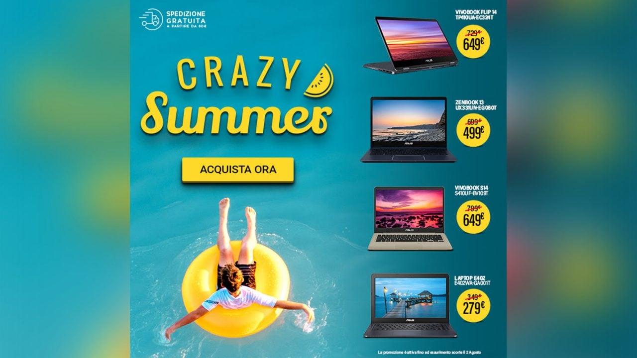 ASUS: solo per oggi e solo sull'eShop ufficiale sconti Crazy Summers su Notebook