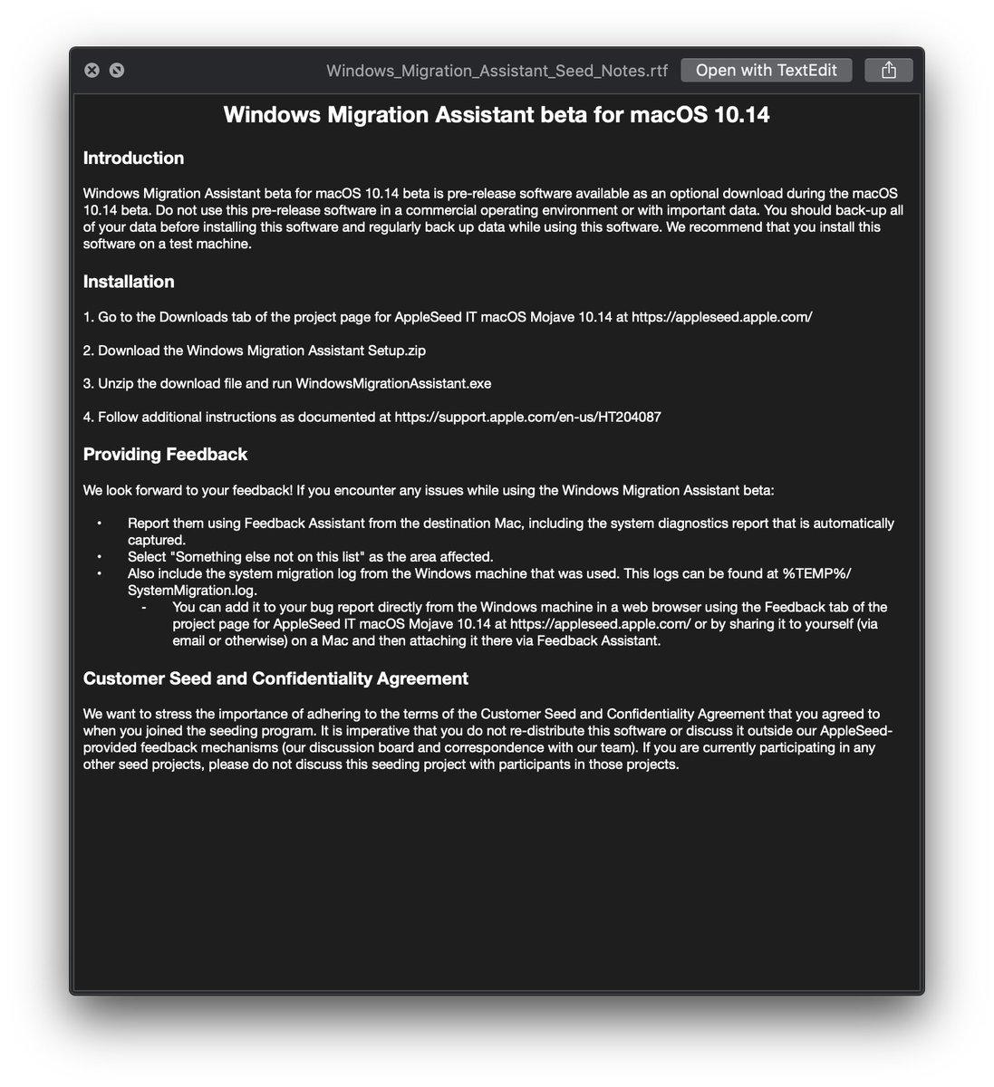 Apple Migration Tool