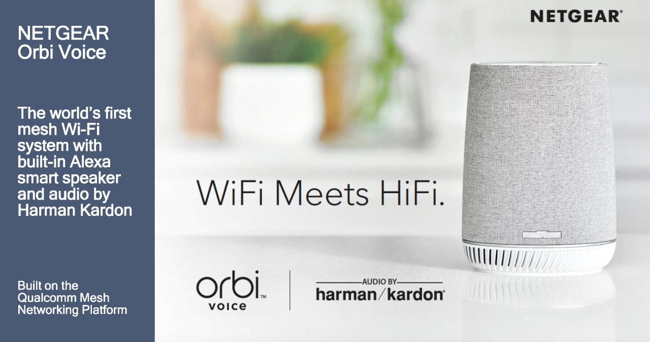Con Orbi Voice potete avere speaker, mesh Wi-Fi e Alexa in un solo dispositivo! (aggiornato con foto e video da IFA)