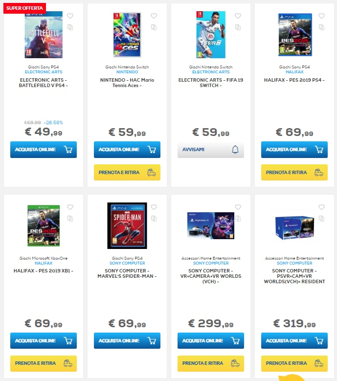 euronics sconti online fine agosto 2018 console (2)