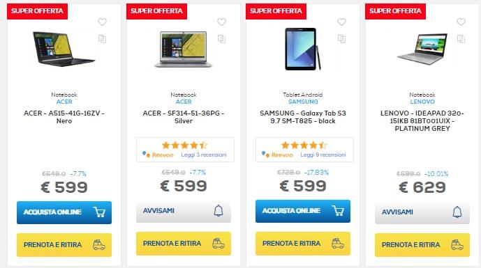 euronics sconti online fine agosto 2018 notebook e tablet (10)