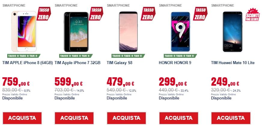 trony prezzi pazzi settembre 2018 smartphone (1)