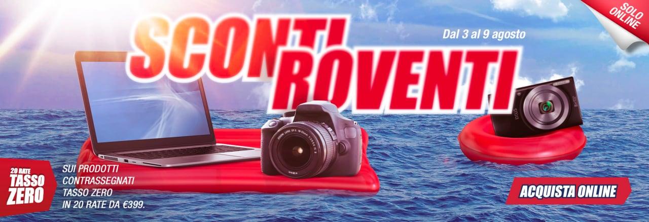 """Trony """"Sconti Roventi"""" 3-9 agosto: i protagonisti sono TV, fotocamere e notebook (foto)"""