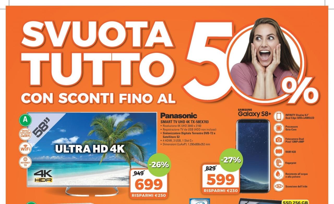 Volantino expert svuota tutto 50 9 agosto 1 settembre for Regalo mobile tv