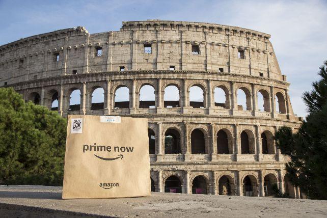 Amazon Prime Now arriva a Roma: consegna della spesa a casa 7 giorni su 7