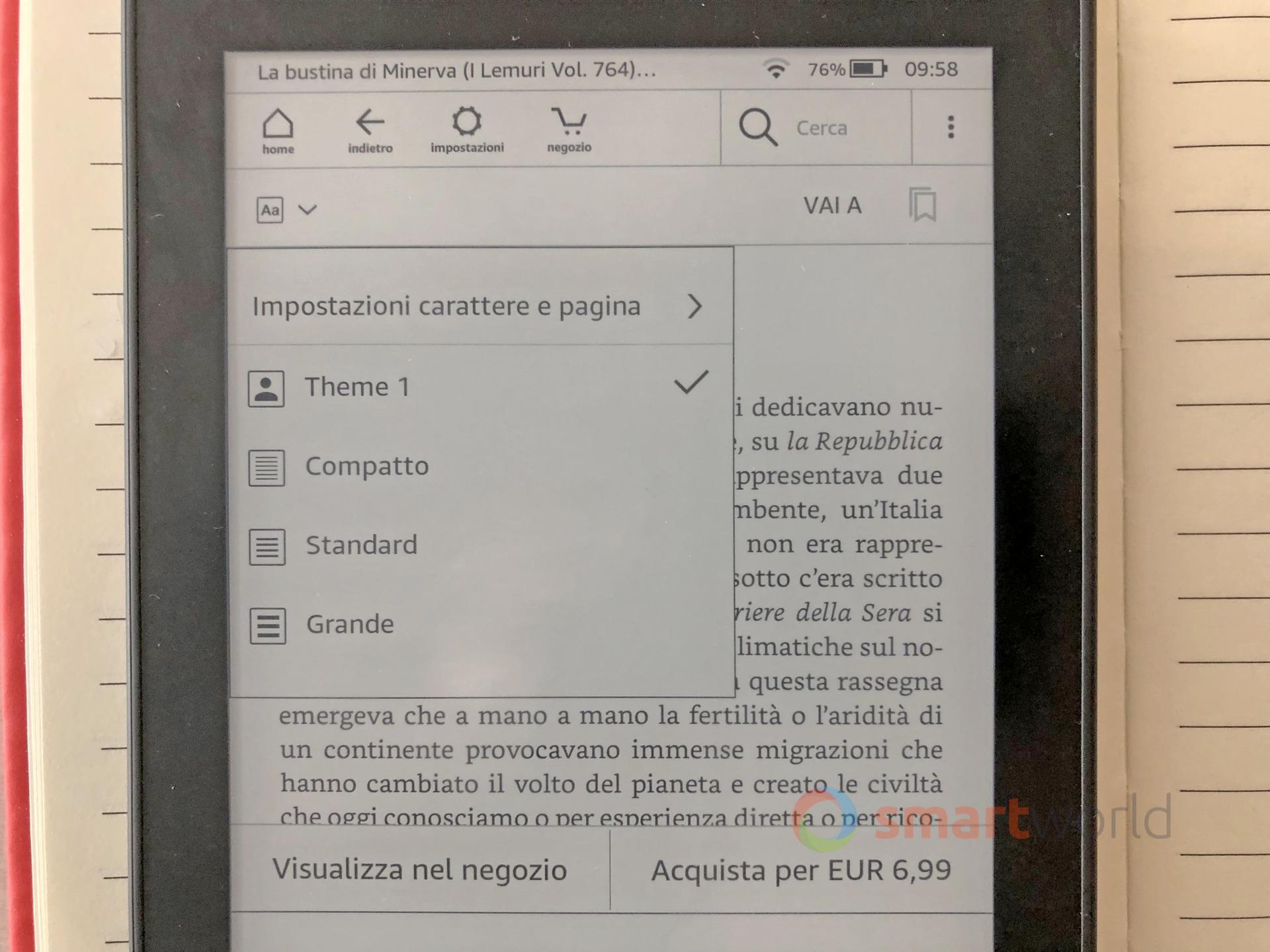 Amazon Kindle Paperwhite 2018: impermeabilità e memoria raddoppiata