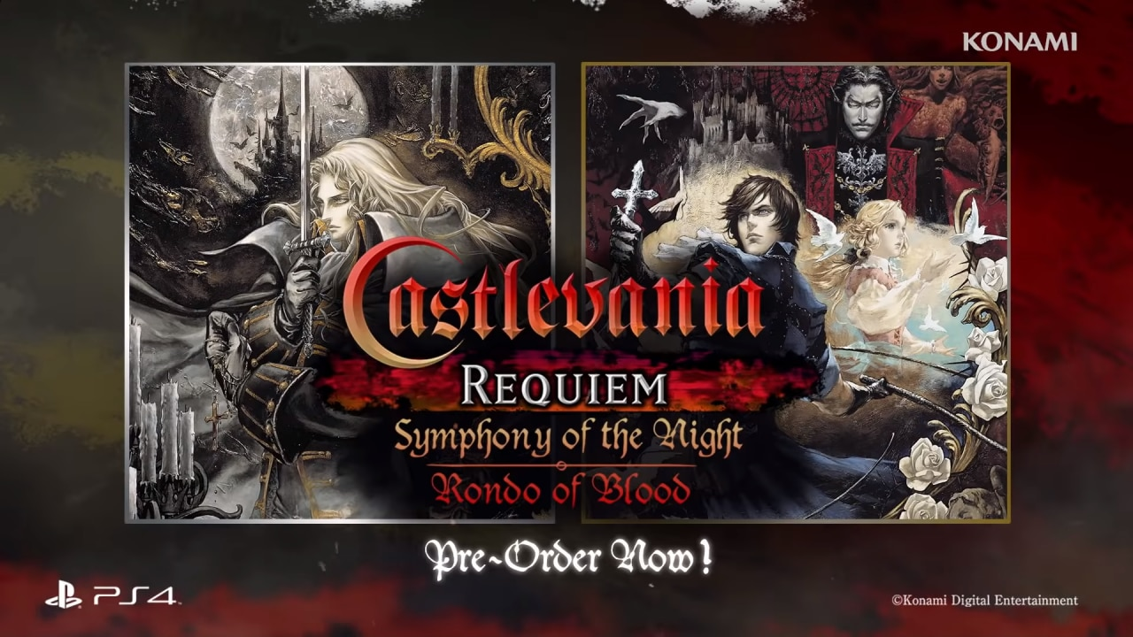 Castlevania Requiem: Symphony of the Night & Rondo of Blood tornano in esclusiva su PS4 a fine ottobre