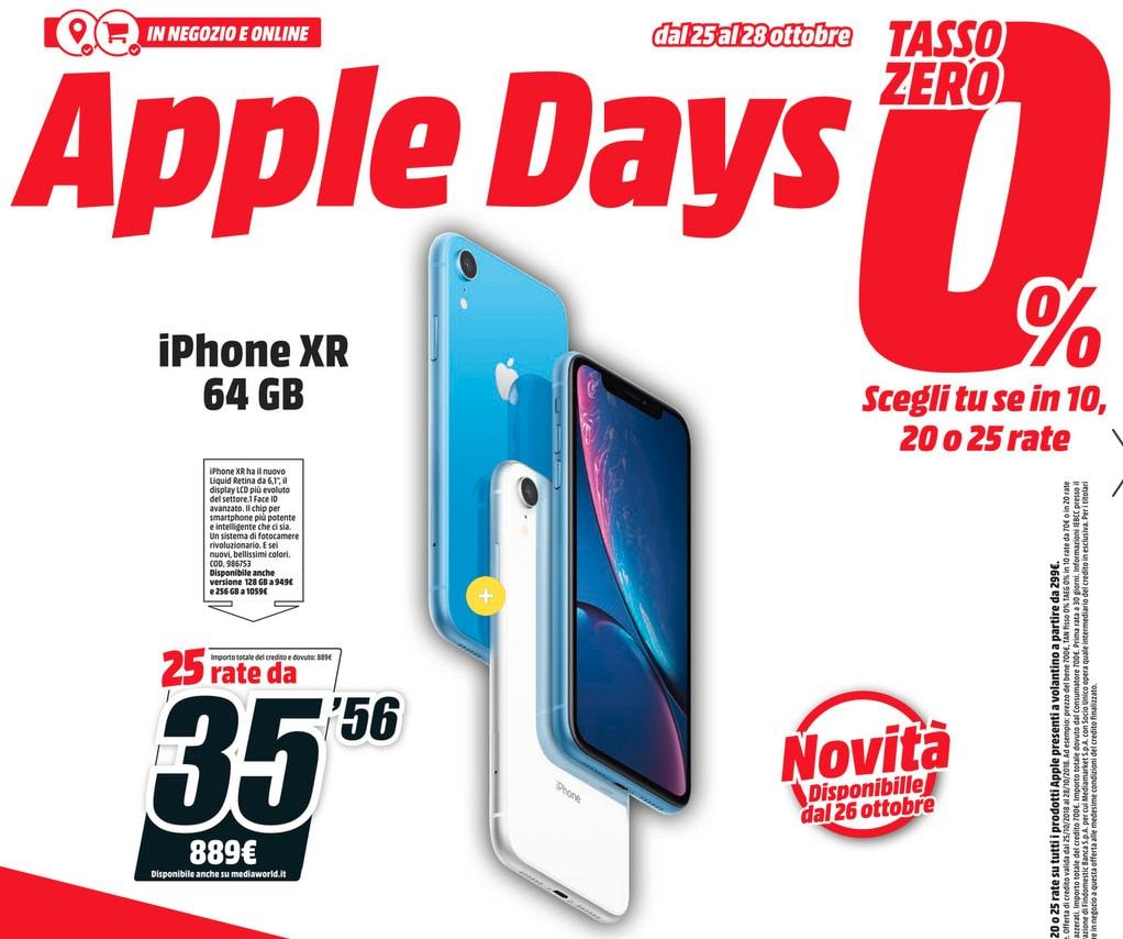 Volantino MediaWorld Apple Days Ottobre 2018 (1)