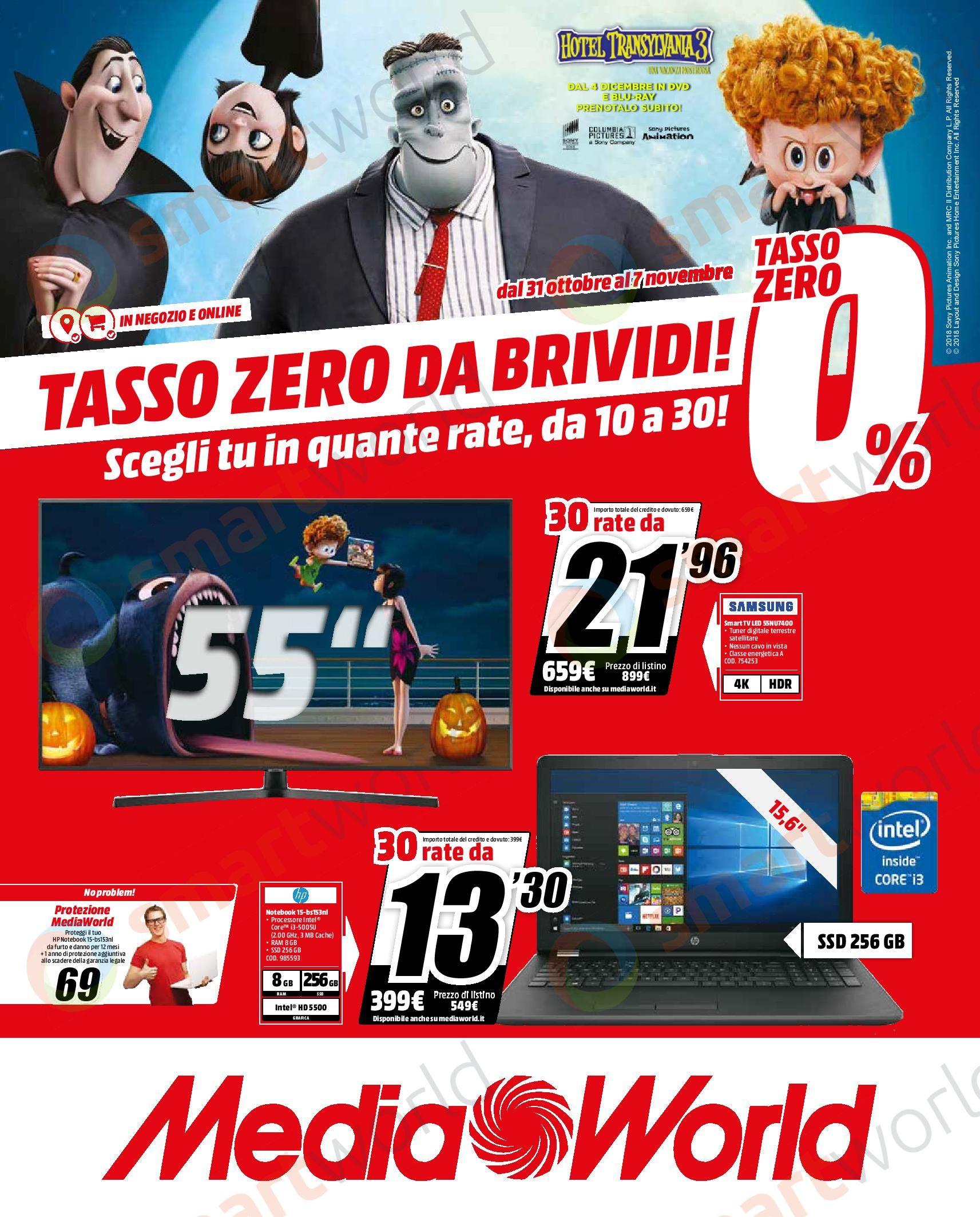 Volantino MediaWorld Tasso Zero Brivido Ottobre 2018 (1)
