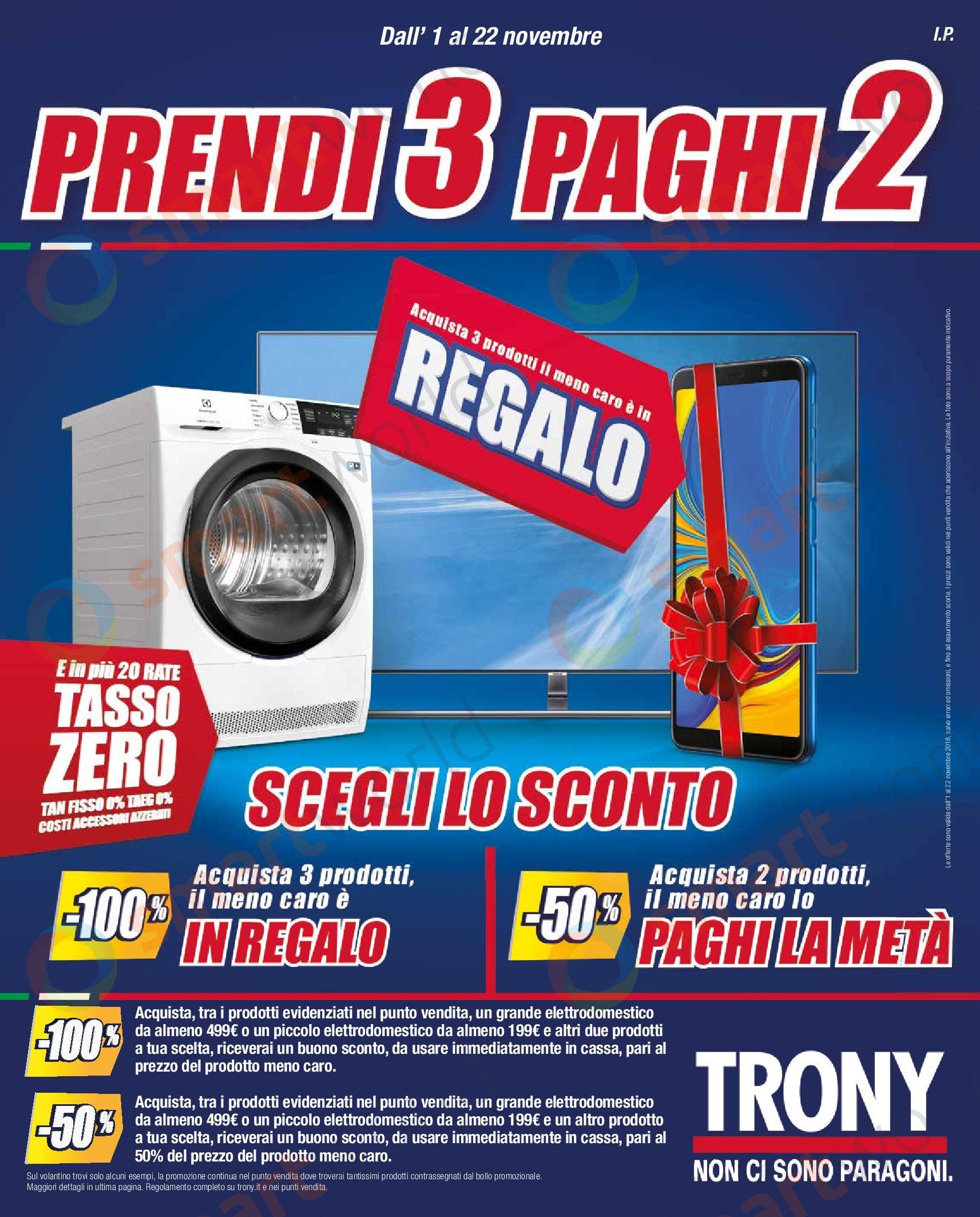 Volantino Trony 3×2 novembre 2018 (1)