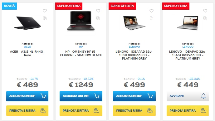 euronics sconti online 1 ottobre 2018 notebook (3)