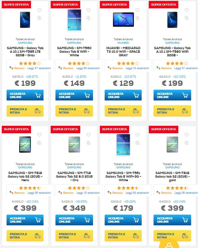 euronics sconti online 1 ottobre 2018 tablet (4)