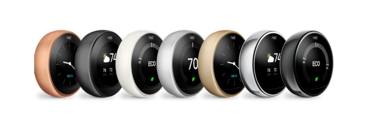 I termostati smart di Nest si arricchiscono di tre nuove colorazioni (ma solo in nord America)