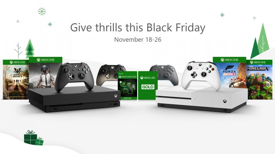 Xbox promette un caldo Black Friday: sconti su Xbox One X, Xbox Game Pass e tanti giochi