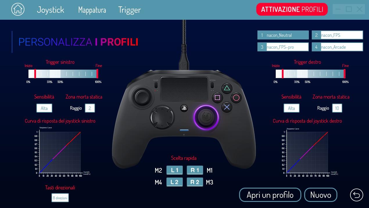 Recensione Nacon Revolution Pro Controller 2 – Software (1)