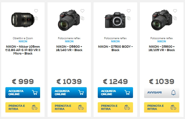 sconti online euronics 8 novembre 2018 fotocamera (1)