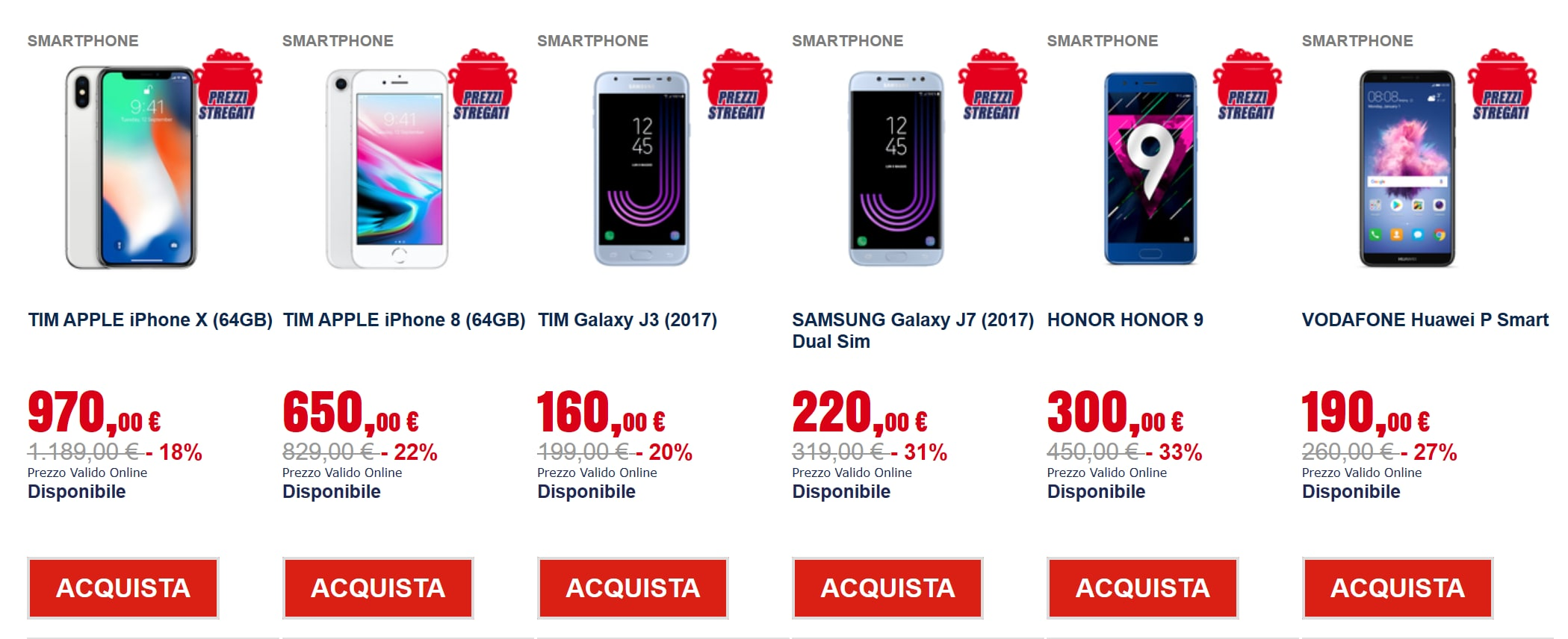 trony prezzi tappeto novembre 2018 smartphone (2)