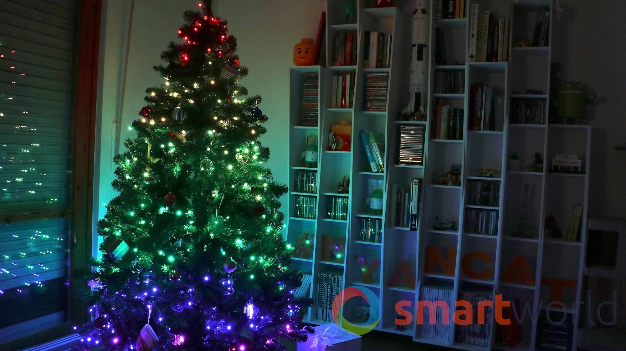 Luci per albero di natale smart twinkly la recensione foto e
