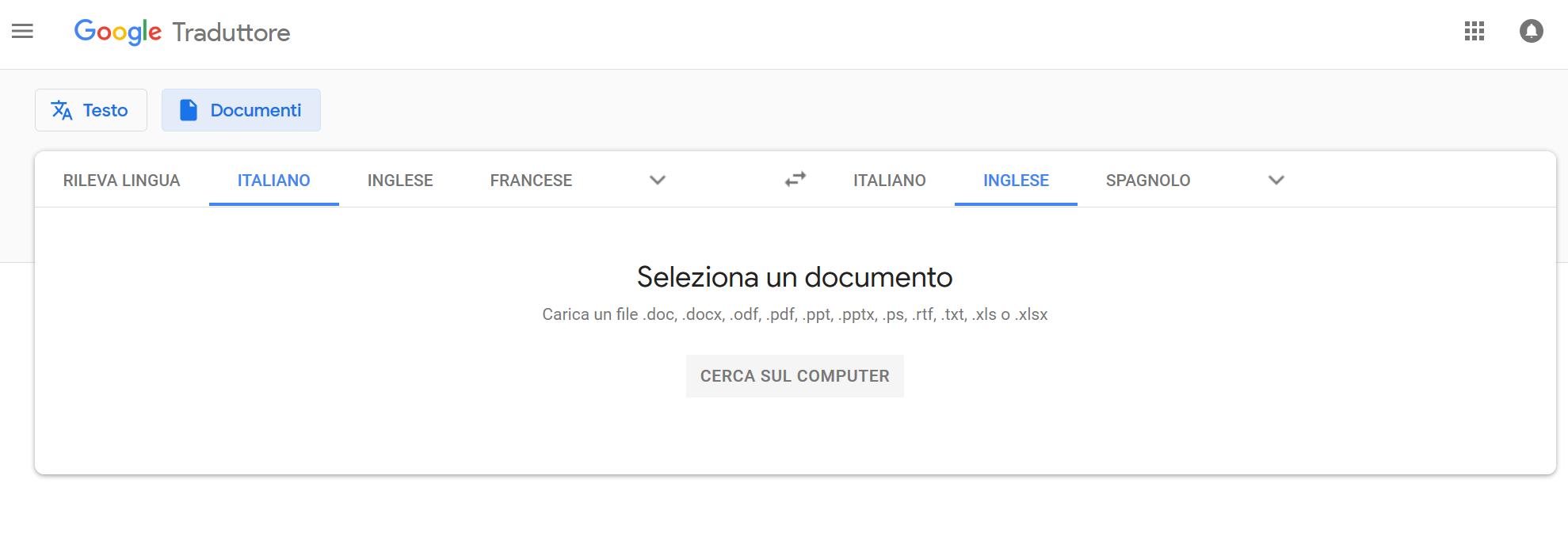 Sapevate Che Google Traduttore Può Tradurre Interi Documenti In Un