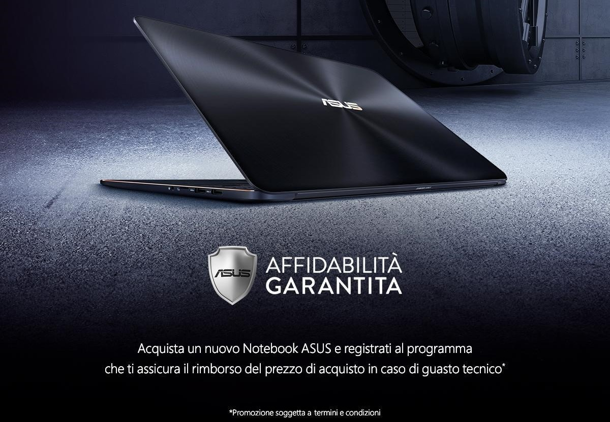 ASUS Affidabilità Garantita: guasti o difetti sul notebook? ASUS lo rimborsa!