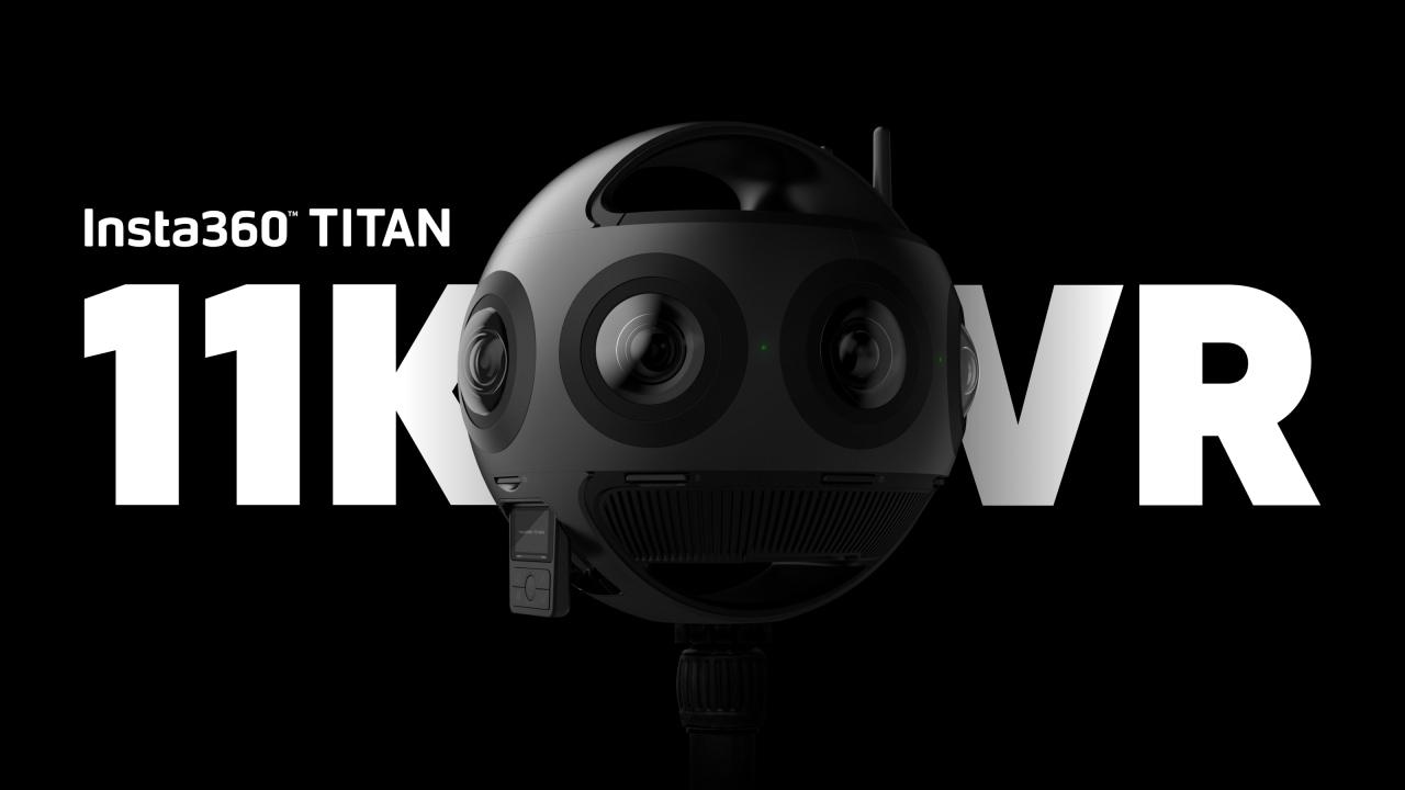 Insta360 Titan: 8 sensori da mirrorless per video 11K a tutto tondo (foto e video)