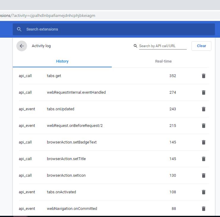 Chrome-extension-activity-log-history
