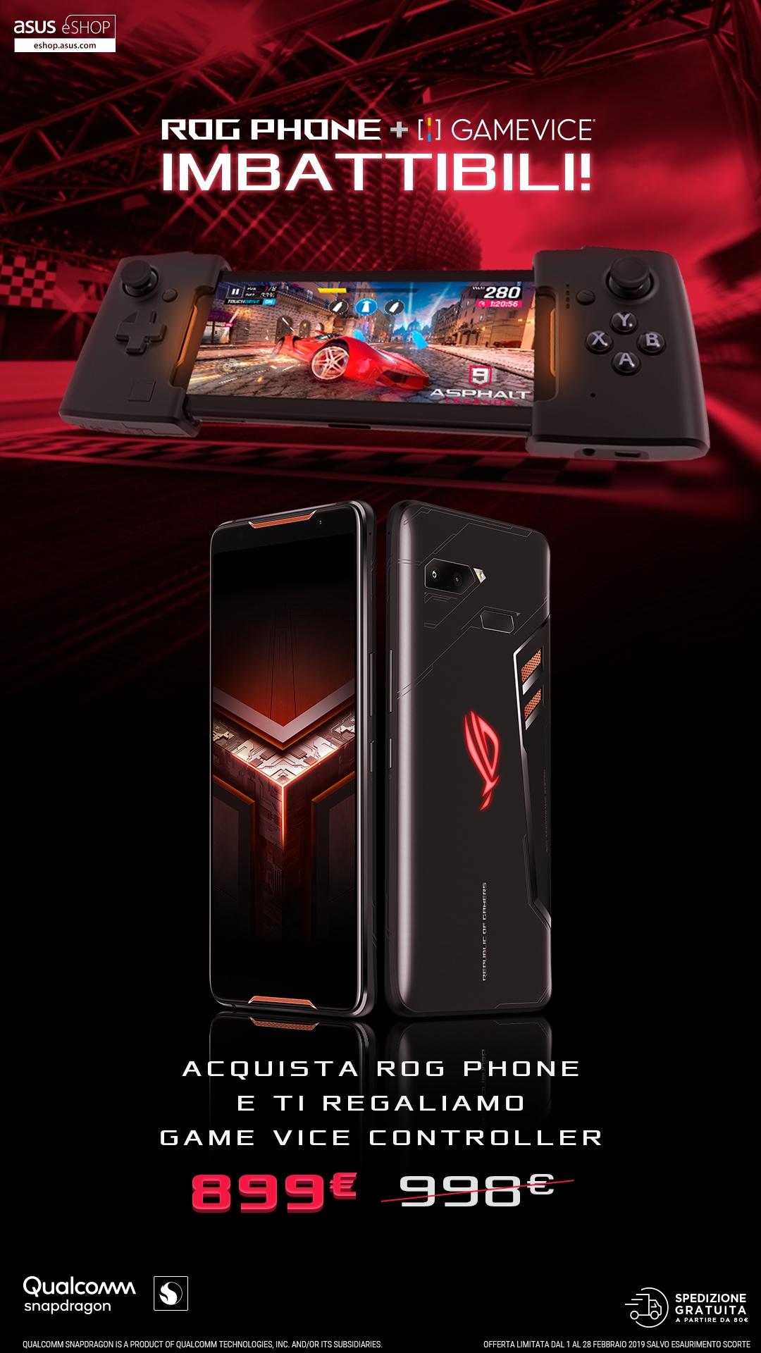 Promo Febbraio ROG Phone + Gamevice