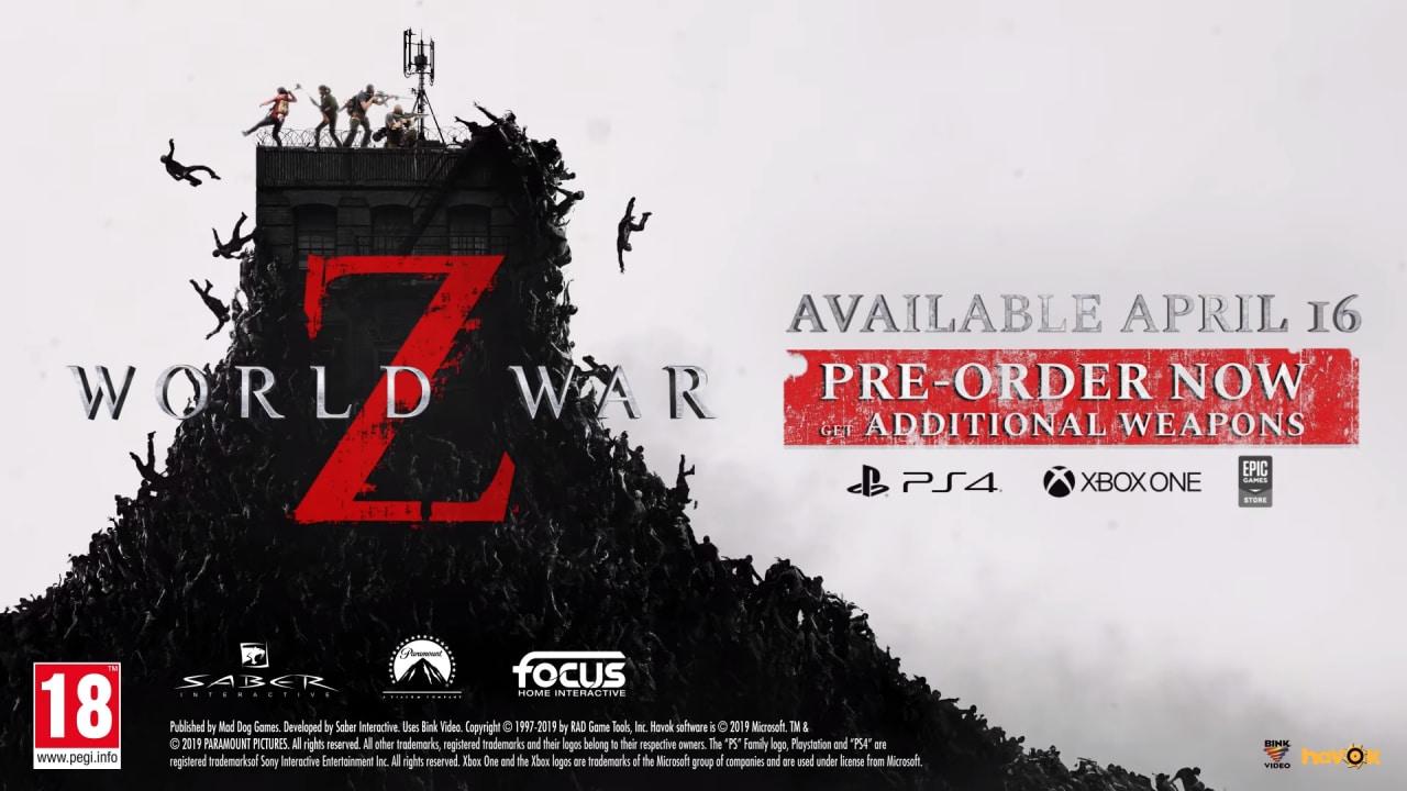 World War Z arriverà a metà aprile su PC e Console: ecco pre-ordini e un nuovo trailer