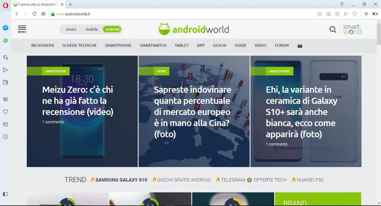 Opera browser ha in mente un nuovo design per la sua interfaccia: guardate che bello (foto e download)