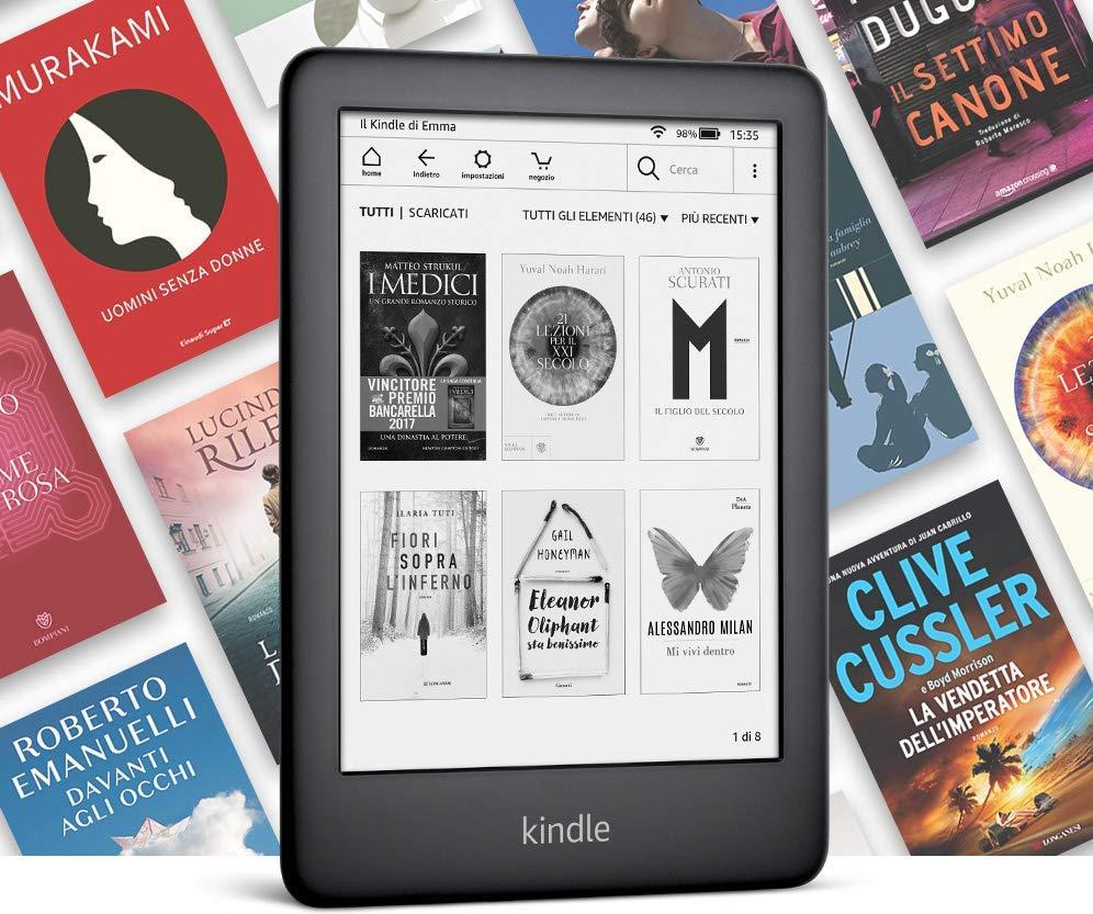 Lettori e-book Kindle e Kindle Paperwhite in offerta speciale Amazon: si parte da soli 59€