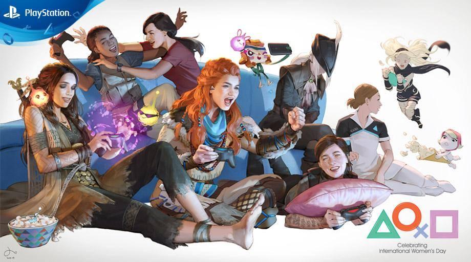 Sony festeggia l'8 marzo con un tema PS4 dedicato alle eroine dei videogiochi PlayStation