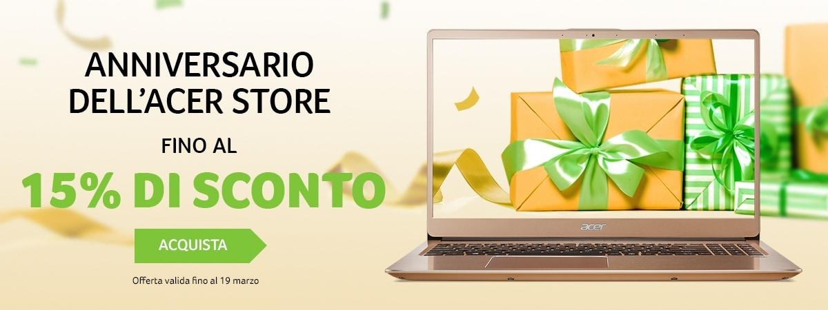 Acer sconta tutto fino al 15%: notebook e PC desktop in offerta sullo store online
