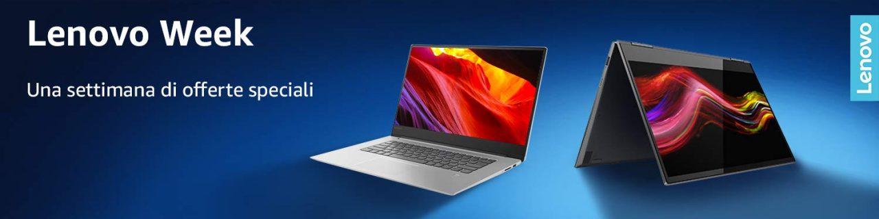 Amazon Lenovo Week: notebook, desktop AIO e monitor in sconto fino all'11 marzo