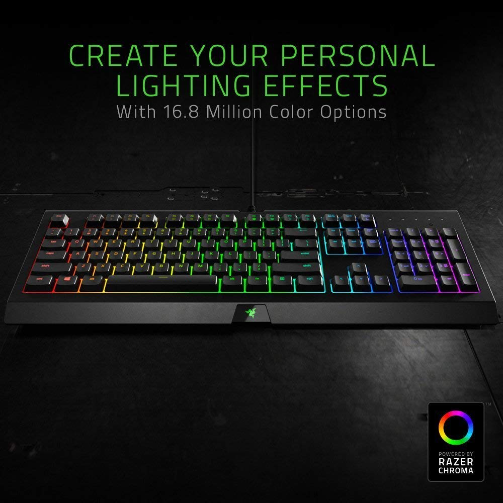 Razer Cynosa Chroma costa solo 49,99€ su Amazon: tastiera da gaming coloratissima!